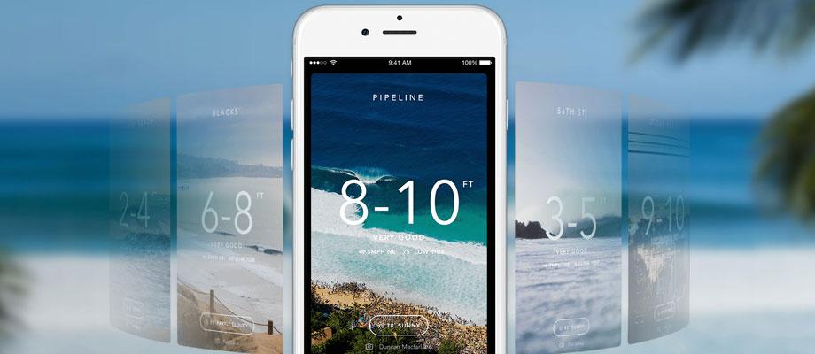 Surfingbräda + App = Bästa surfvädret